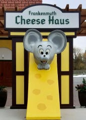 Frankenmuth's Cheese Haus named it's giant mouse statue after a contest: Klaus was the winning name.