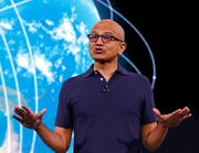 In this May 6, 2019 file photo, Microsoft CEO Satya Nadella delivers the keynote address at the company's annual conference for software developers in Seattle. Nadella recently said he worries that mistrust between the U.S. and China will increase technology costs and hurt economic growth at a critical time.