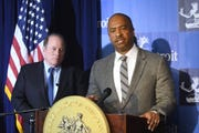 Detroit Mayor Mike Duggan and Councilman Scott Benson