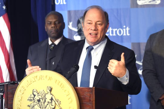 Detroit Mayor Mike Duggan announces during a press conference that 2020 property growth value have increased across nearly all Detroit neighborhoods.