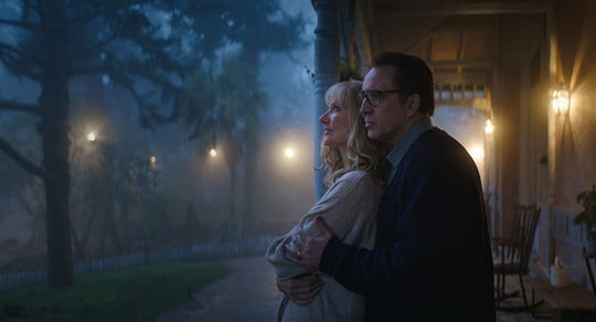 """Joely Richardson and Nicolas Cage in """"Color Out of Space."""""""