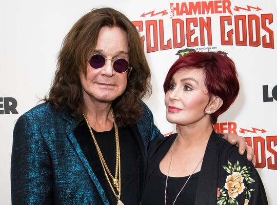 Musician Ozzy Osbourne and his wife Sharon Osbourne at the Metal Hammer Golden God awards in London on  June 11, 2018 .