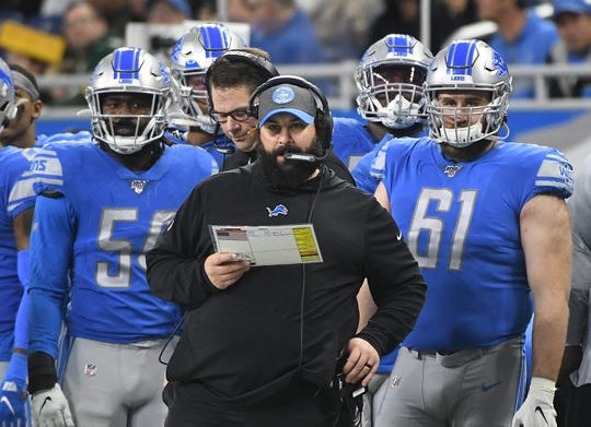 Lions head coach Matt Patricia still must complete his coaching staff after offseason changes.