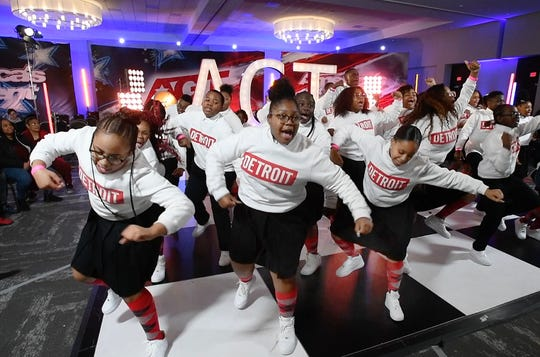 """The Detroit Youth Choir, last years America's Got Talent runners up, perform for those auditioning for the next America's Got Talent show at the Suburban Collection Showplace in Novi, Michigan on January 21, 2020. Executive producer Jason Raff says, """"First off, they are a great friend of the show and also we're extremely proud and happy for what they did for our show but also for Detroit in general.  I've never seen, after the show, a community come together and support them.  We came back to Detroit in part because we found them here. There is just a sense in this city of a real communal spirit.  There are a lot of reasons to bring them by and also to be selfish and see them again.  Their spirit just made the whole crew enthusiastic."""""""