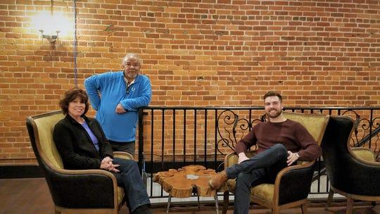 Sharon Lemond, Walter Edwards, and Morgan Lemond inside Entwined Wine and Cocktail Bar.