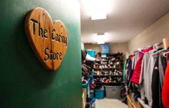 The caring closet Friday, Jan. 17, 2020, at Woodworth Middle School in Fond du Lac, Wis. The caring closet provides clothing and hygiene items that some students may need.
