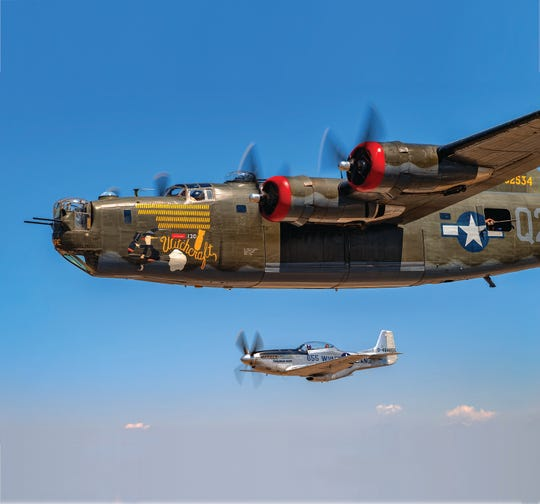 The Wings of Freedom Tour returns to Fort Myers next week with its popular fleet of military aircraft, including a vintage World War II B-24 Liberator and a P-51 Mustang fighter plane.