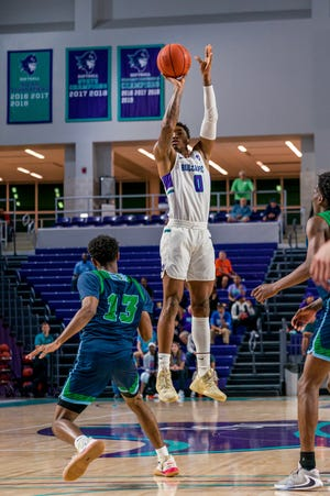 Florida SouthWestern State College sophomore Berrick Jeanlouis, who transferred from New Mexico State, is second on the men's basketball team in minutes played and points scored per game this season. The Canterbury School alumnus will look to transfer back to the Division I level next season.