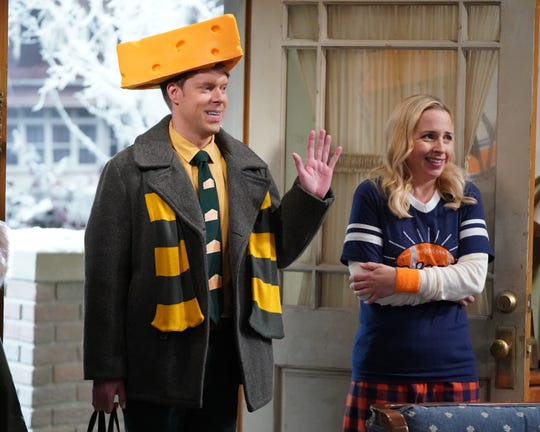 """Tim Baltz and Lecy Goranston star in a scene from ABC's """"The Conners.""""  Tuesday's episode is titled """"Throwing a Christian to a Bear."""""""