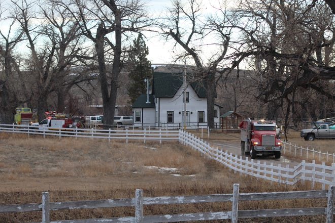 Firefighters responding to a home in Vaughn in January.
