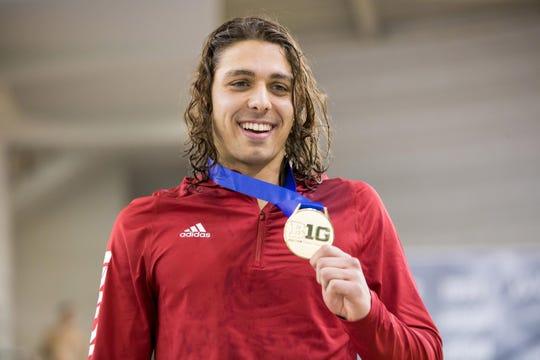 FILE --  Indiana University swimmer Vinicius Lanza