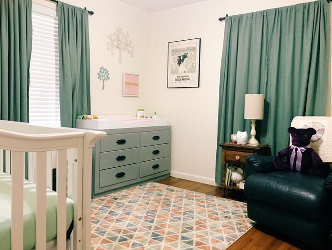 Furniture such as changing tables and cribs are typically easy to clean and pass on.