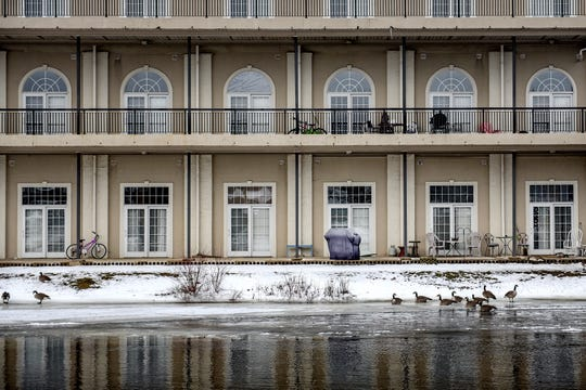 A view of Edgewater Apartments on Tuesday, Jan. 21, 2020, in Eaton Rapids.