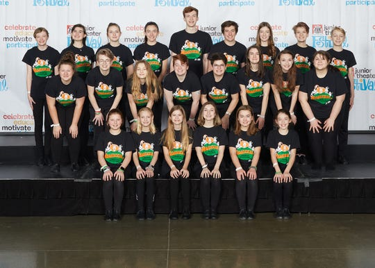 Students representing Treehouse Theater in Manitowoc won an Excellence in Ensemble Work Award and earned praise at the Junior Theater Festival Atlanta, which was held Jan. 17-19.