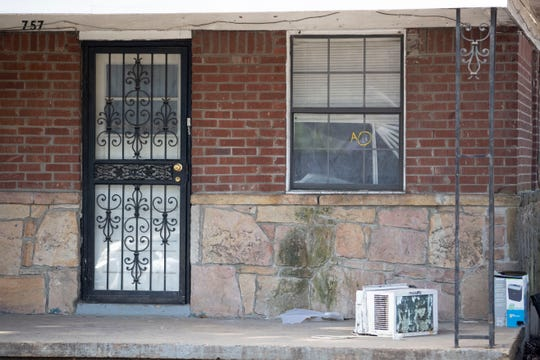 A bullet hole is market on a window Tuesday, Jan. 21, 2020, at the scene of a shooting in the 700 block of Josephine Street in the Orange Mound community. A ten-year-old boy lost his life due to the gun violence.