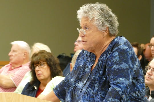 Local resident Regina Dayton speaks to Marco Island City Council on Jan. 21.