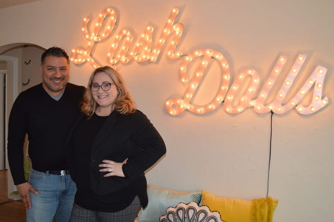 Husband and wife Noel Pineda and Rebecca Hart run Lash Dolls Milwaukee in Hales Corners.