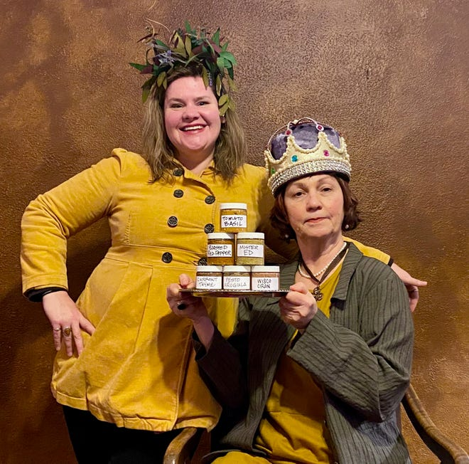 Mustard Queens Katrina Kozar (left) and Kathy Maersch believe in bringing fun to their business.