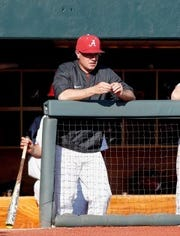 Alabama pitching coach Jason Jackson has to figure out the team's best pitching rotation this season.