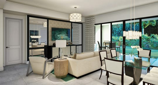 The Collins model at 1111 Central, will feature interior design by Jinx McDonald Interior Designs.