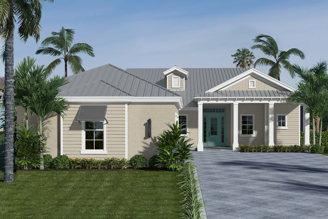 Divco Custom Homes' Cypress model in Babcock Ranch is scheduled to be completed in February.