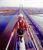 Dave Frieder on the Triborough Bridge