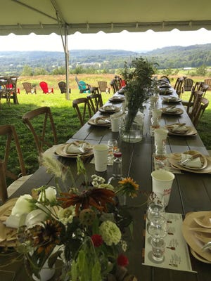 Fossil Farms outdoor dinners are held in this bucolic setting