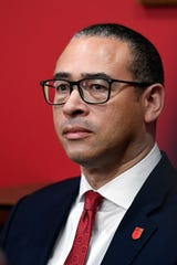 Rutgers University introduces Jonathan Holloway as the new president on Tuesday, Jan. 21, 2020, in New Brunswick.