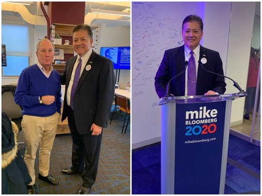 Las Cruces Mayor Ken Miyagishima attended a New York City campaign event for Democratic presidential candidate Michael Bloomberg on Jan. 21, 2020.