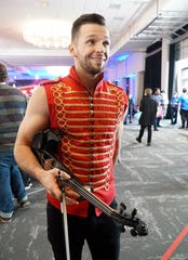 Dancer and musician Svet Rabdoslavof gets ready to audition for America's Got Talent on Jan. 21, 2020 in Novi.
