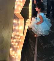 Saanvi Mandalika, 3, of Columbus, Ohio, is ready for her shot at stardom. The 3-year-old sang during America's Got Talent auditions on Jan. 21, 2020 at Suburban Collection Showplace in Novi.