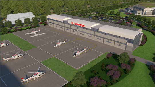 Newly released renderings show what the future Leonardo helicopter maintenance facility might look like. Santa Rosa County on Tuesday approved a $9 million infrastructure construction plan that will lay the groundwork for the Leonardo facility to be built.