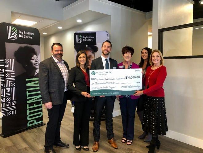 Wind Creek Hospitality gifts $10k to Big Brothers Big Sisters of Northwest Florida.