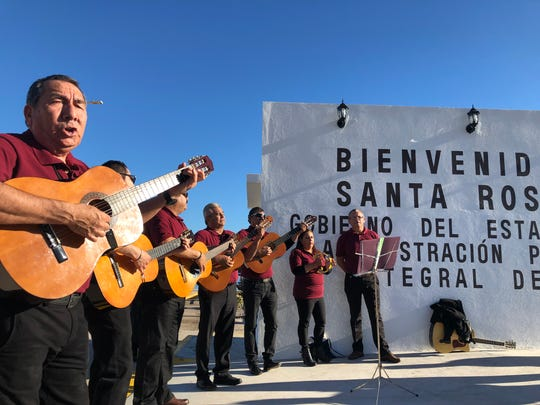 Musicians welcomed passengers of the Astoria cruise ship as they disembarked to visit the port of Santa Rosalia, Mexico. The port hasn't had a cruise ship visit in ten years.