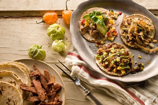 The Taco Pack ($50) at Taco Guild satisfies a party of 4 with the choice of two proteins like cherry steak, pork carnitas and chicken tinga to fill corn and flour tortillas.