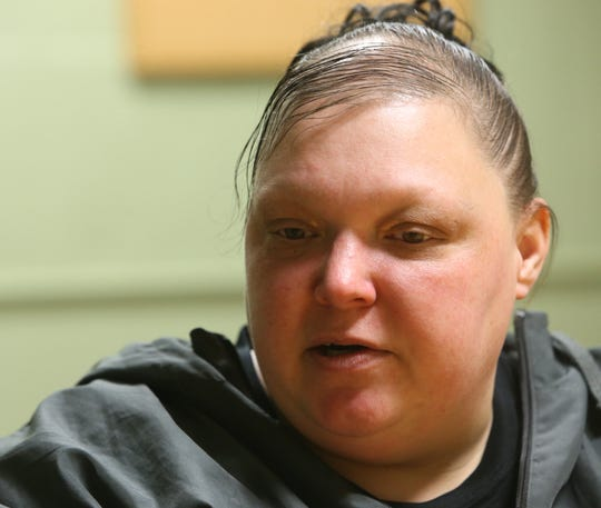 Tanielle Keese discusses her experiences being homeless while at Mel's Place in the City of Poughkeepsie on Jan. 16.