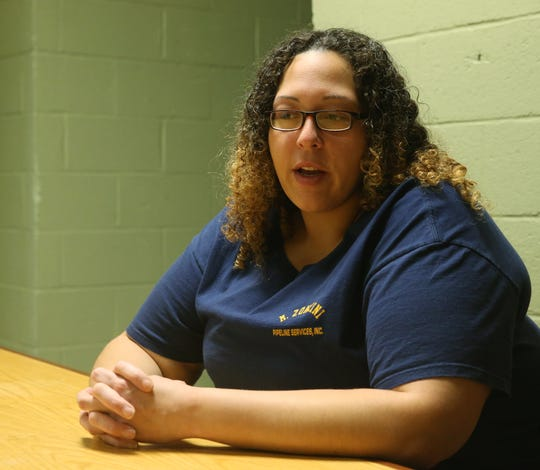 Courtney Fullenweider discusses her experiences being homeless while at Mel's Place in the City of Poughkeepsie on Jan. 16.