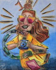 """Madison Cahill exhibits her self-portrait at Gallery 40's """"What Does Poughkeepsie Mean to You."""""""
