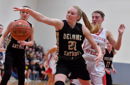 Senior Brooke Lawyer is a big reason the Delone Catholic Squirettes have gone 22-0 this season.