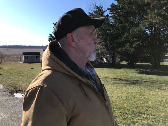 Chuck Reeves, 62, of Holly Tree Court, Cross Roads, talks about hearing the gunshots in a state police-involved shooting in his neighborhood late Monday night.