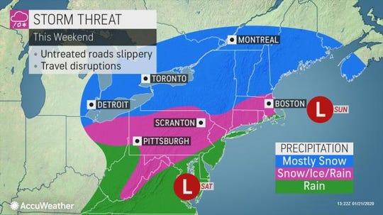 A wintry mix could be on tap for the second weekend in a row. Meteorologists are keeping an eye on how much it could bring to central Pennsylvania.