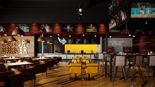 Inside Victory Burger Wings Co At Circa Resort Casino.