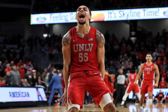 Elijah Mitrou-Long and his UNLV teammates are on a hot streak, winning seven of their last eight games.