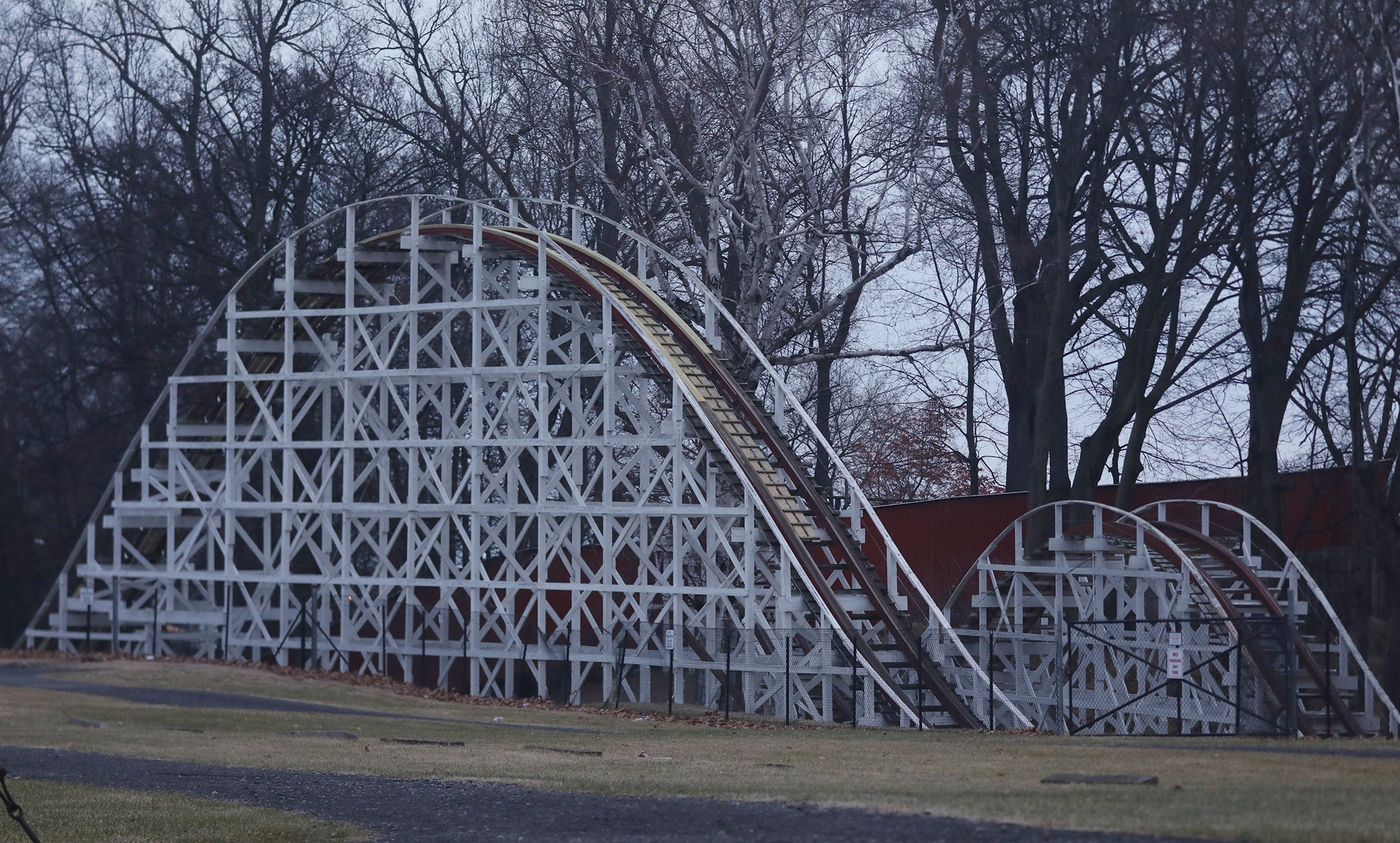 The Jack Rabbit opened in 1920 at Seabreeze Amusement Park.
