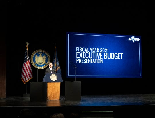 Gov. Andrew M. Cuomo delivers his Fiscal Year 2021 Executive Budget address in Albany.