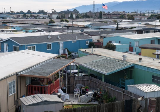 A mobile home park in Salinas, photographed Saturday, Jan. 18, 2020.