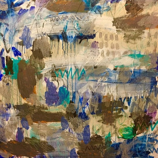 """""""The Shaken Foundation,"""" art by Linda Dickson Moss, will be exhibited from Jan. 24 through Feb. 22 at Artspace in Shreveport."""