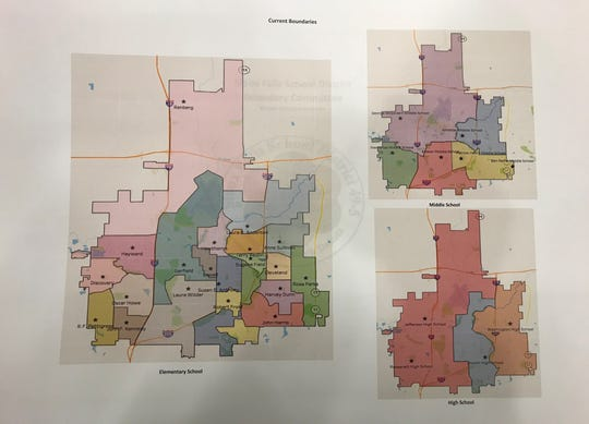 These are the current school boundaries within the Sioux Falls School District as of Monday, Jan. 20, 2020.