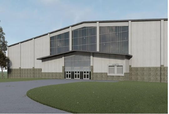 A rendering of a new arena proposed for the Ozark Empire Fairgrounds.