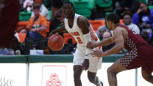 FAMU guard Kamron Reaves had 8 points and 5 rebounds in the 66-57 win versus N.C. Central on Monday, Jan. 20, 2020.